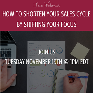 Webinar - Increase Sales by Shifting Your Focus - November 2019